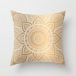 Gold Mandala 3 Throw Pillow