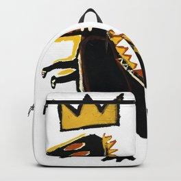 Jean Michel Basquiat Print, Dinosaur Post Backpack