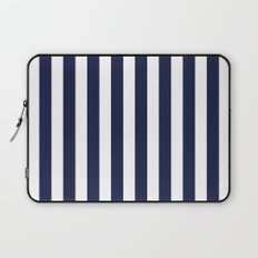 Stripe Vertical Navy Blue Laptop Sleeve