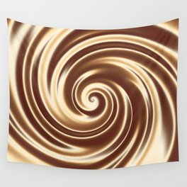 Chocolate milk cocktail spiral Wall Tapestry