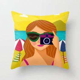 The Beach Bum Throw Pillow