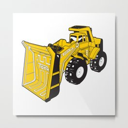 Construction Toy Metal Print