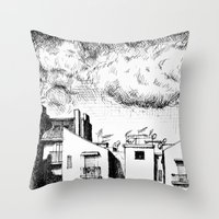 buildings Throw Pillows featuring Buildings by Giuseppe Vassallo
