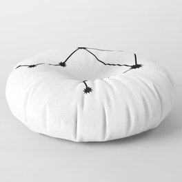 Libra Astrology Star Sign Minimal Floor Pillow