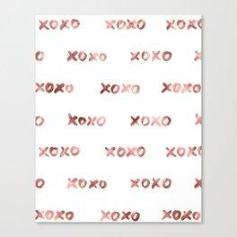 XOXO Fashion Love Rose Gold Pattern Canvas Print