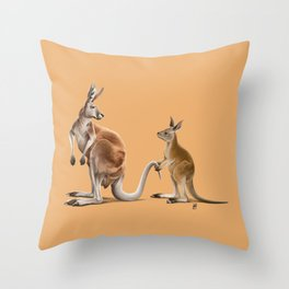 Being Tailed (Colour) Throw Pillow