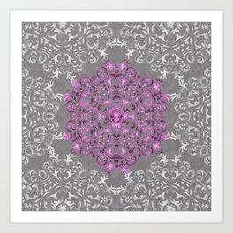 Mandala Pattern with Glitters II Art Print