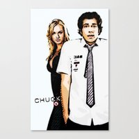 chuck Canvas Prints featuring Chuck by SyafSyaf