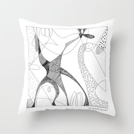 animorph 03 - giraffe Throw Pillow