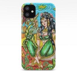 Kerala Mural Style Indian Goddess iPhone Case