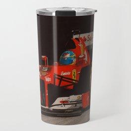 Red and Black Travel Mug