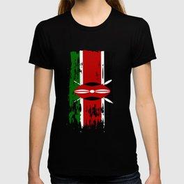 KE KEN Kenya Flag T-shirt