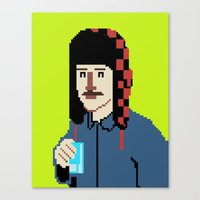 8bit Canvas Prints featuring Self-8bit by Judge Bockman