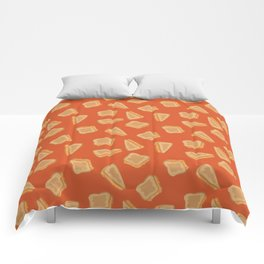 Grilled Cheese Print Comforters