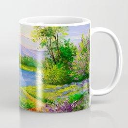 Lilac bloom on the river Coffee Mug