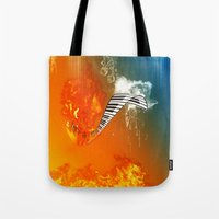 piano Tote Bags featuring Piano by nicky2342