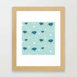 Kiwi birds on the clouds Framed Art Print