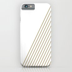 Tan & White Stripes  Slim Case iPhone 6s