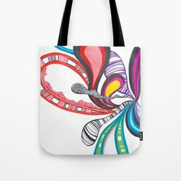 Fanning Teardrops Abstract Tote Bag