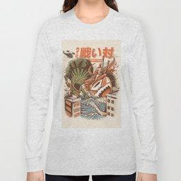Kaiju Food Fight Long Sleeve T-shirt
