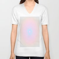 honeycomb V-neck T-shirts featuring Pink Honeycomb by Brown Eyed Lady