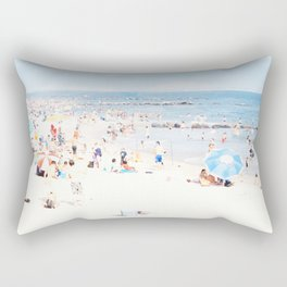 Blue Beach Brooklyn Rectangular Pillow