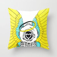 halo Throw Pillows featuring Halo by Paul Trujillo