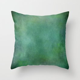 Looking into the depths of green Throw Pillow
