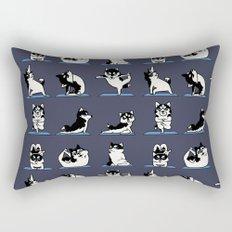 Husky Yoga Rectangular Pillow