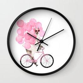 Riding Llama with Pink Balloons #1 Wall Clock