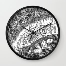 Hunter's Child Wall Clock