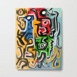Primitive street art abstract Metal Print