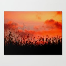Rainbow Sundown Canvas Print