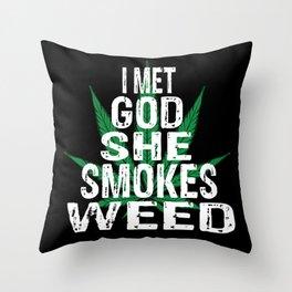 Smoke Pot Throw Pillow