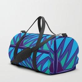 Decorative Purple Points Duffle Bag