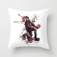 lebron Throw Pillows featuring LeBron 6 by Asta Dagmar