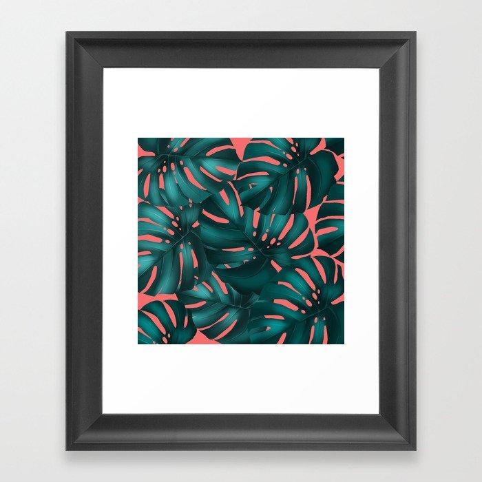 monstera leaves 2 Framed Art Print