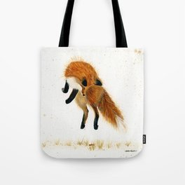 Fox Hop - animal watercolor painting Tote Bag