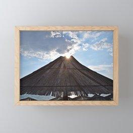 Volcano eruption Framed Mini Art Print