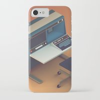 computer iPhone & iPod Cases featuring Vintage Computer by Michiel van den Berg