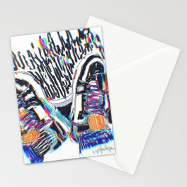 Colorful sneakers  Stationery Cards