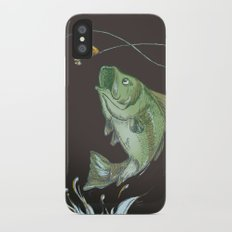 Bass Jumping At Night Slim Case iPhone X