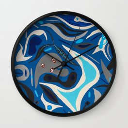 Parasites in Blue Wall Clock