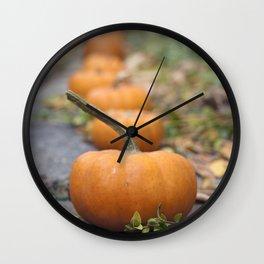 Pumkin Row Wall Clock