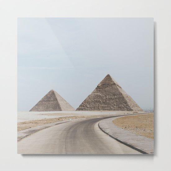 Pyramids of Giza Metal Print