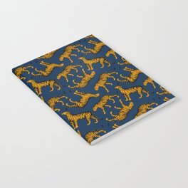 Tigers (Navy Blue and Marigold) Notebook