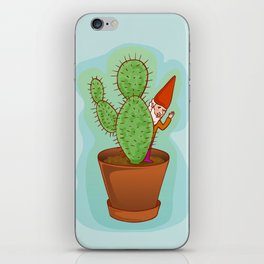 fairytale dwarf with cactus iPhone Skin