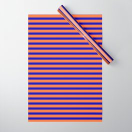 Vintage Beach Stripes Wrapping Paper