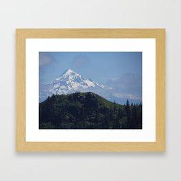 Snowy Mt Hood Framed Art Print