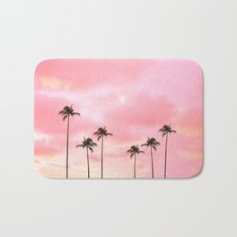Palm Trees Photography | Hot Pink Sunset Bath Mat